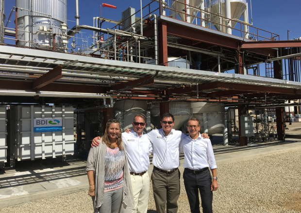2016: 20th anniversary of the BDI company   First RetroFit project of a plant with external technology in Bakersfield/California (USA)   Delisting of BDI - BioEnergy International AG from the Frankfurt Stock Exchange  Opening of a grease treatment plant and a high-pressure esterification plant in Stanlow (Great Britain)